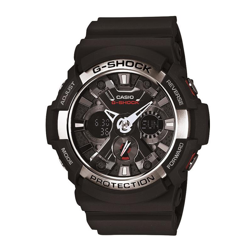 カシオ CASIO メンズ腕時計 G-SHOCK GA-200-1AJF ブラック/ブラック
