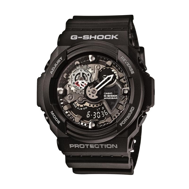 カシオ CASIO メンズ腕時計 G-SHOCK GA-300-1AJF ブラック/ブラック