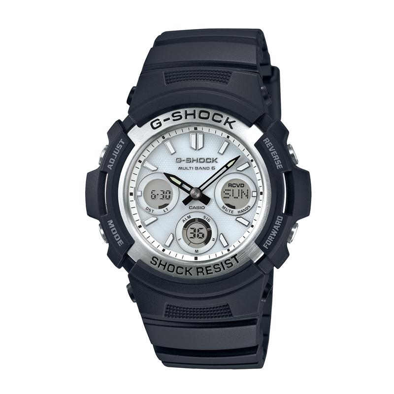 カシオ CASIO メンズ腕時計 G-SHOCK AWG-M100S-7AJF ホワイト/ブラック