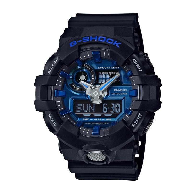 カシオ CASIO メンズ腕時計 G-SHOCK GA-710-1A2JF ブルー/ブラック