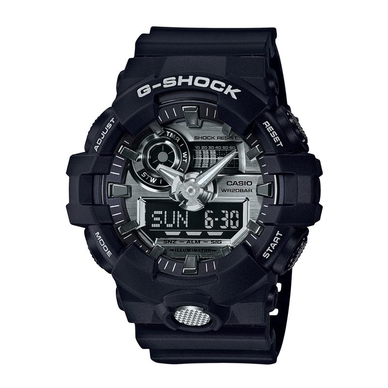 カシオ CASIO メンズ腕時計 G-SHOCK GA-710-1AJF シルバー/ブラック