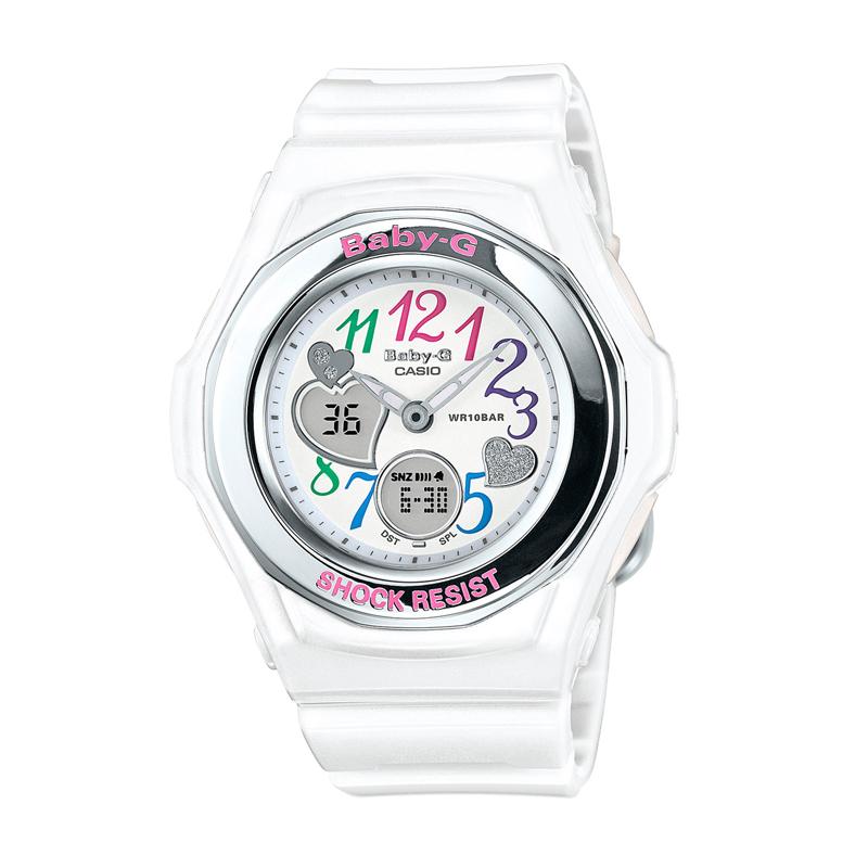 カシオ CASIO レディース腕時計 BABY-G BGA-101-7B2JF ホワイト/ホワイト