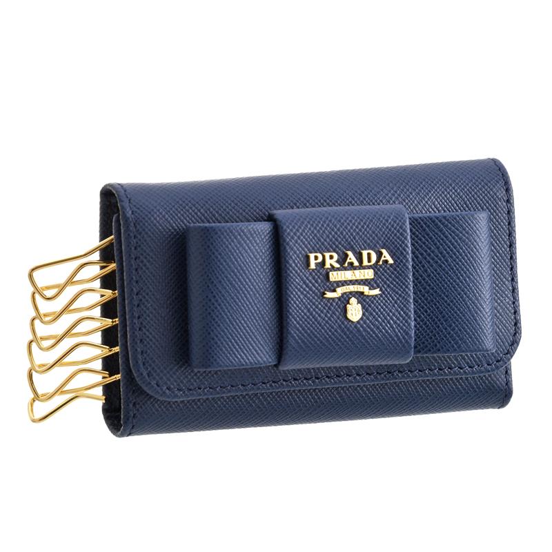 プラダ PRADA キーケース 1PG222 BLUETTE SAFFIANO FIOCCO
