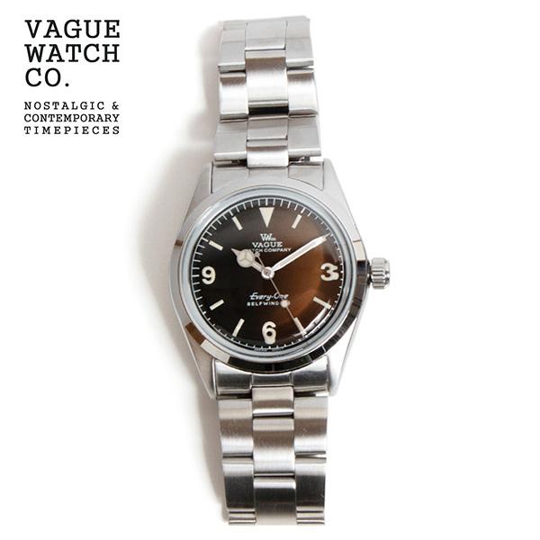 EI-L-002 時計 お金を節約 オートマチック エヴリィワン VAGUE WATCH Co. お気に入 ブラウン ヴァーグウォッチカンパニー Every-One 自動巻き 腕時計 日本製 34mm