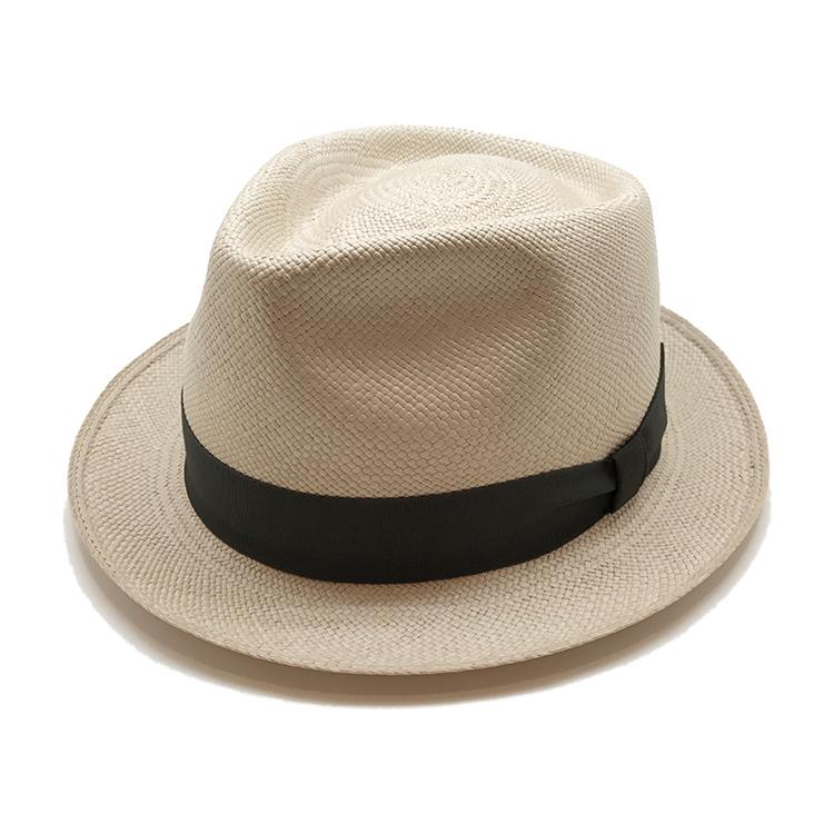 FUJIHAT エクアドル産 本パナマ100% 中折れハット ナチュラル帽子 大きい サイズ 日本製 ハット メンズ 春 夏 パナマ おしゃれ こだわり 【 ラッピング 送料無料 】 ギフト プレゼント