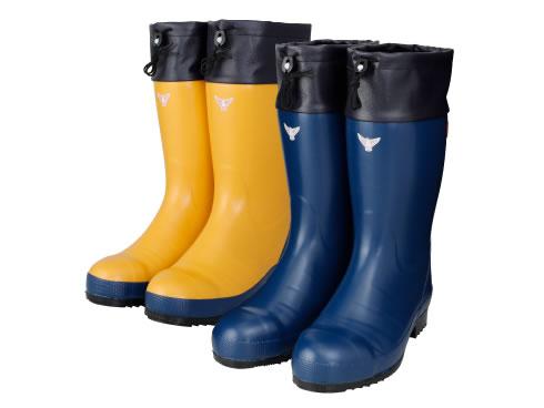 AC071(ネイビー)AC081(イエロー) セーフティブーツ#800 安全長靴 安全靴 ゴム長靴 作業長靴 長靴 フード付 保温 防寒 除雪 排雪 日本製