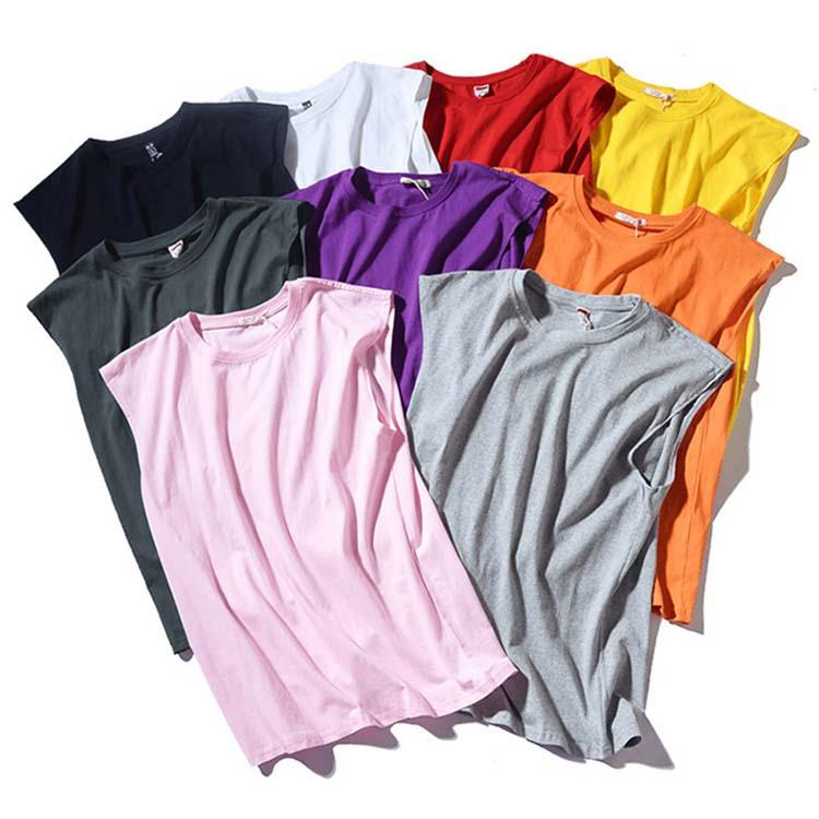 運動 Tシャツ 男 ノースリーブ 綿100% タンクトップ メンズ 夏 おしゃれ ファッション カットソー 袖なし 海 普段着 ビッチ ジム フィットネス Seasonal Wrap入荷 インナー 無地 売り出し トレーニングウェア キャンディー色 運動着 十四色 シンプル