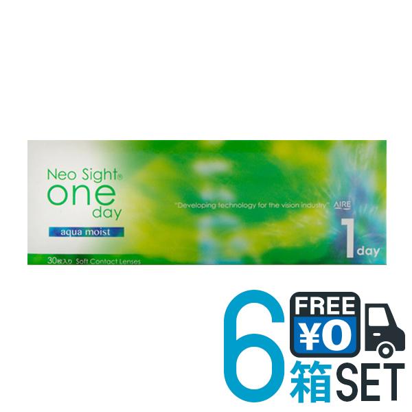 【送料無料】ネオサイトワンデー アクアモイスト 6箱 1箱30枚入 1日使い捨て コンタクトレンズ