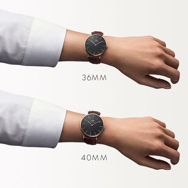 c93ee7308757 Daniel Wellington clock regular article dealer DanielWellington watch men  gap Dis 36mm classical music black Saint Mohs Rose fashion watch Classic  Black St ...