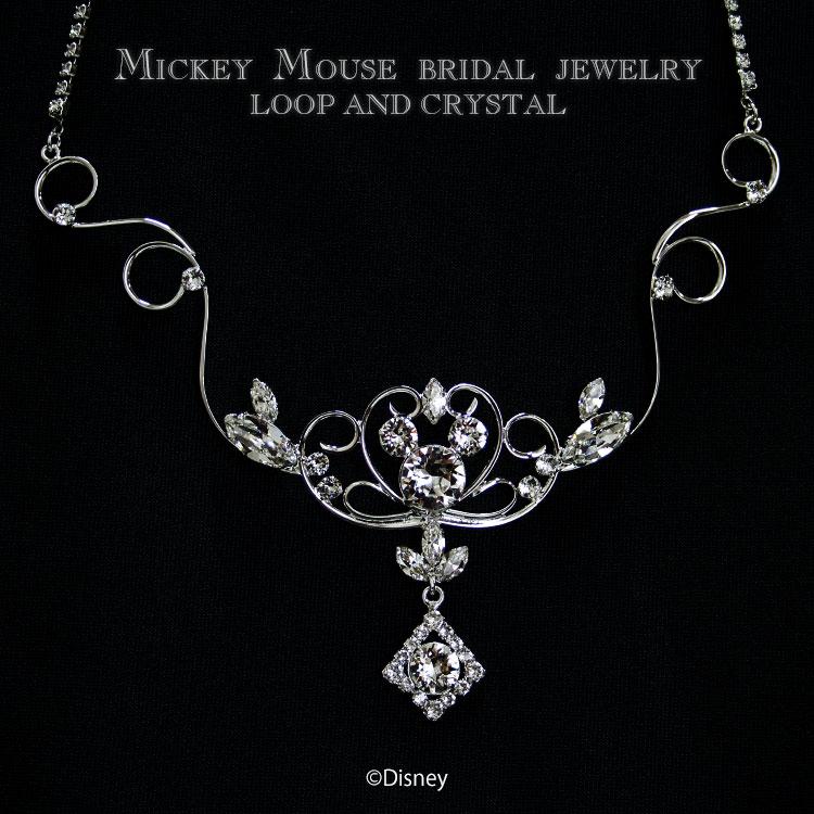 Disney wedding necklace Disney Mickey Mouse / jewelry accessories Lady's  pendant necklace Swarovski crystal wedding ceremony wedding regular article