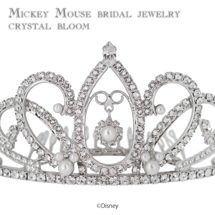 198e2dcbf Disney wedding tiara Disney Mickey Mouse / jewelry accessories tiara crystal  bloom Swarovski crystal wedding ceremony ...