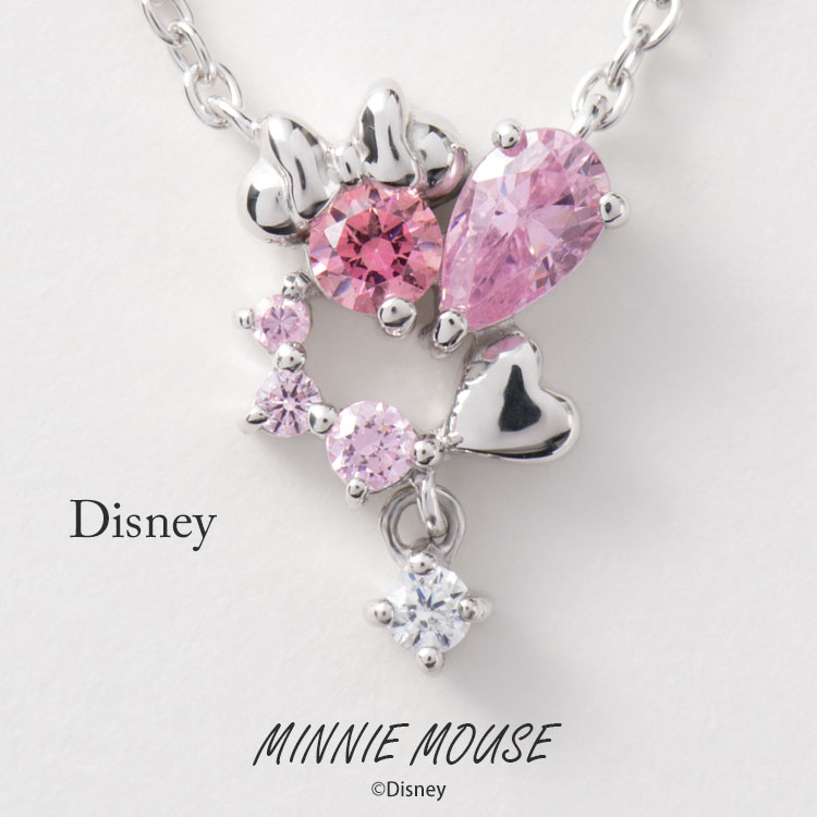 150596ab6 Disney necklace Disney Minnie Mouse heart silver jewelry accessories Lady s  pendant necklace VPCDS20156 mini regular article ...
