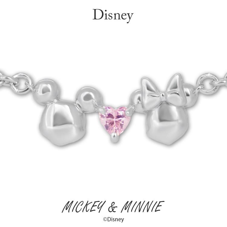 ディズニー ブレスレット Disney ミッキーマウス&ミニーマウス シルバー ジュエリー レディース アクセサリー ブレスレット VBLDS20008 ミッキー ミニー 正規品【送料無料】【NH】【Disneyzone】【P05】【ギフト】