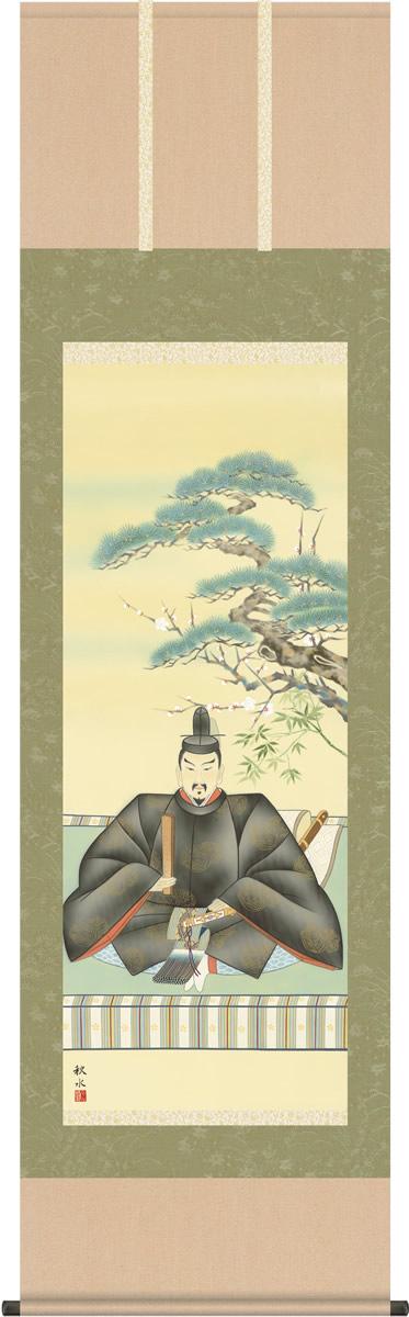 掛け軸 掛軸 天神 浮田秋水 尺五 桐箱 和室、床の間に飾る モダンに掛物をつるす