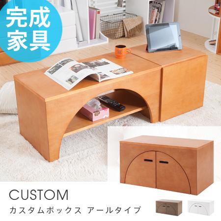 組み合わせ自由 カスタムボックス CUSTOM アールタイプ ( 送料無料 キューブボックス カラーボックス シェルフ 棚 ディスプレイラック 本棚 収納家具 ユニットボックス 完成品 木製 )