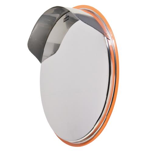 カーブミラー 丸型600φ カスタムステンレス製ミラー(道路反射鏡)HPCS-丸600S (オレンジ、茶、白、グレー、黒)