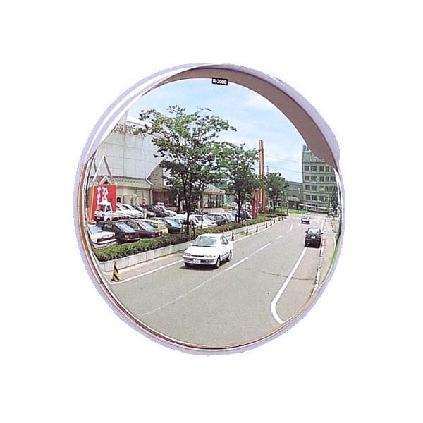 丸カーブミラー 丸型600φ アクリル製ミラー(道路反射鏡) ホワイト色 HPLA-丸600S白 型600φ一面鏡ミラーのみ 白