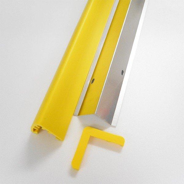 コーナーガード 業務用穴あけタイプ 直角用 ビッグサイズ レモンイエロー 2M-5本