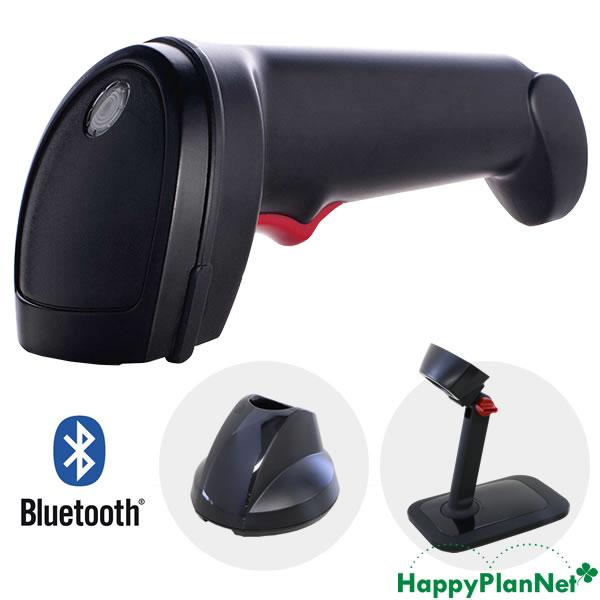 ワイヤレス 2次元バーコードリーダー IG610BT 黒 スタンドセット 【1年保証】 Bluetooth通信充電クレードル ACアダプター付
