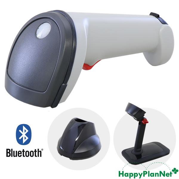ワイヤレス 2次元バーコードリーダー IG610BT 白 スタンドセット 【1年保証】 Bluetooth通信充電クレードル ACアダプター付