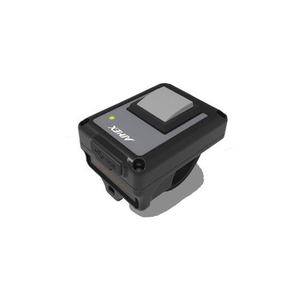 ワイヤレスバーコードリーダー WRS-100 【1年保証】 ウェアラブルリングスキャナーセット(本体、装着用リング(サイズS/M/L)、 充電用USBケーブル付) Bluetooth接続