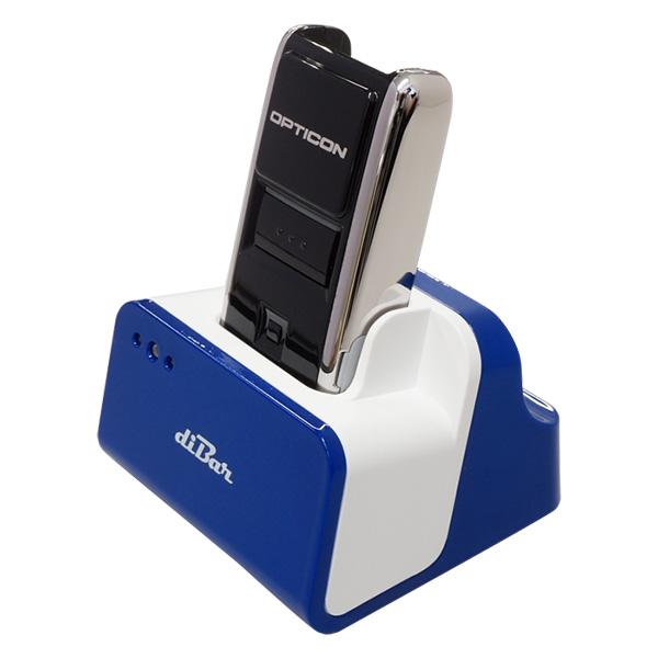 オプトエレクトロニクス OPN-2002n-BLK 無線バーコードデータコレクター 充電クレードル(青)セット 【1年保証】 レーザスキャナー USBハブ機能クレードル DB-CLCRD-BLUE diBar