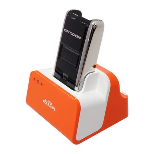 バーコードデータコレクター OPN-2002n 充電クレードル(オレンジ)セット 【1年保証】 レーザスキャナー Bluetooth USBハブ機能クレードル オプトエレクトロニクス diBar