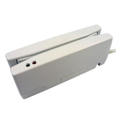 磁気カードリーダー ホワイト USBバーチャルCOM接続 1年保証 MJR-350-VCOM JIS1/JIS2 両面読取対応
