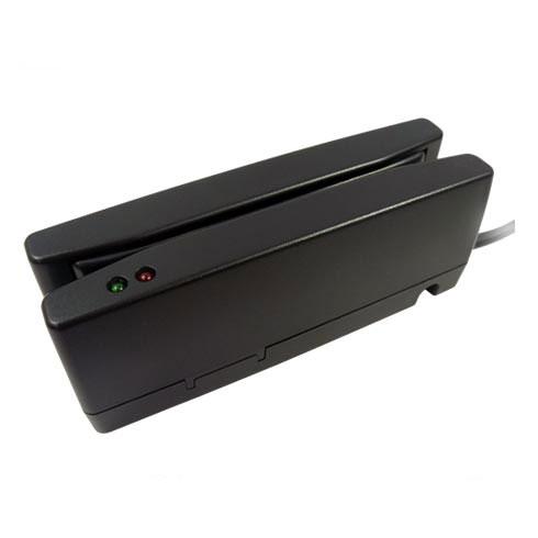 磁気カードリーダー ブラック USBバーチャルCOM接続 1年保証 MJR-350B-VCOM JIS1 JIS2両面読取対応