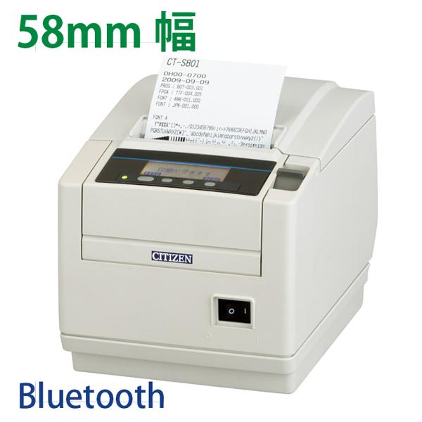 感熱紙レシートプリンター CT-S801II 2インチ(58mm幅) Bluetooth MFi認証済み 2年保証 シチズン システムズ CITIZEN SYSTEMS