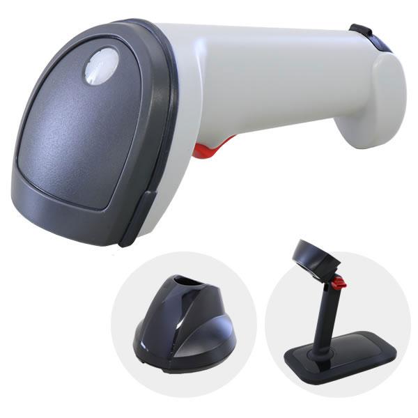 ワイヤレス バーコードリーダー SG600BT 白 スタンドセット 【1年保証】 Bluetooth通信充電クレードル ACアダプター付
