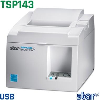 バーコードサーマルプリンター Future PRNT TSP143IIIU-WT-JP 1年保証 TSP100IIIシリーズ (USB接続 / ホワイト) レシートプリンター 電源内蔵 スター精密