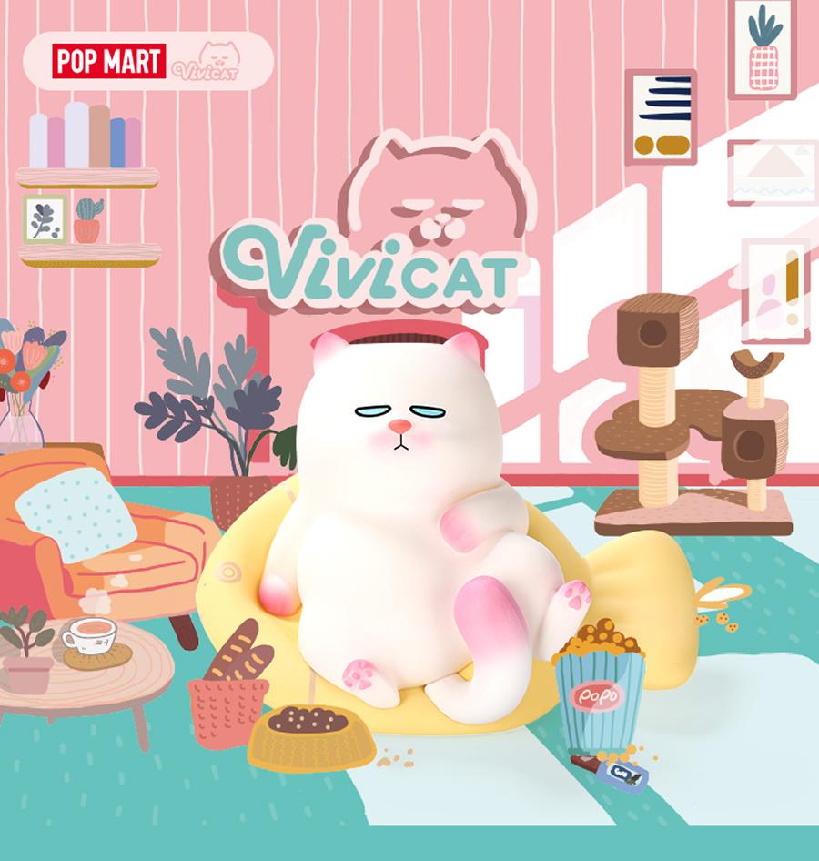POPMART VIVICAT おやじ座りセット 新色追加 BOX 美品 ポップマート POP MART ネコ フィギュア ミニチュア エントリーでポイント43.5倍 シークレット アーティスト デザイナー おやじ 香港 コラボ ぶさがわ お買い物マラソン
