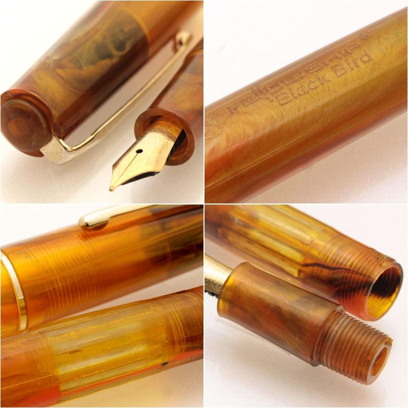 手工制作的魅力! 吸管怀旧风格钢笔橙色