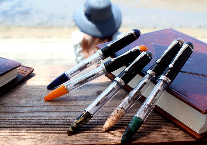 美丽和波光粼粼的清晰 ! 石英晶体钢笔给你神秘的力量 ! 吸入性机制的三个双帽