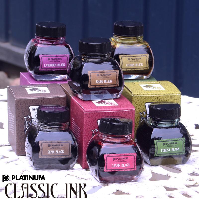 享受古典的墨水古典墨水钢笔事情全6色颜色变化的过程的墨水60cc INKK-2000黑加仑子布莱克,福里斯特黑色,shitorasuburakku,黄褐色黑色,深棕色黑色,薰衣草黑色