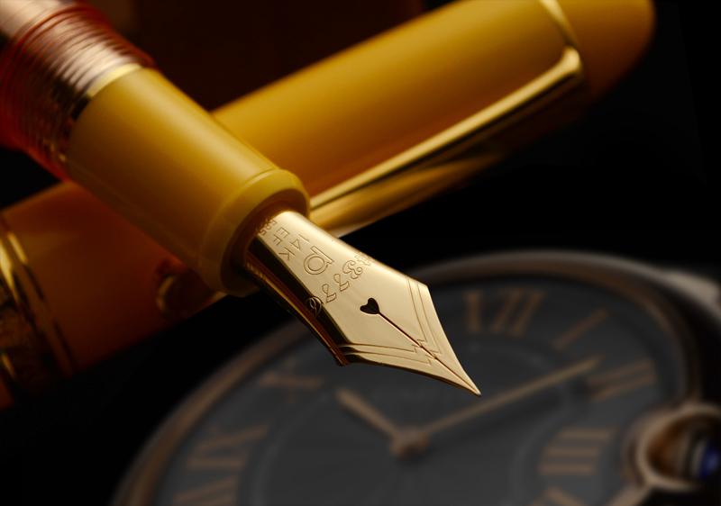 新黄色菱形 14 k 透明轴钢笔世界最好的光芒 ! 生动的黄色滑密封机理 Wancher 原 ! 全球限量版 200 示威者在顶面模型