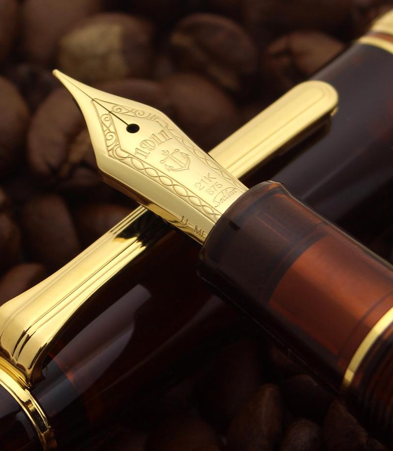 湾仔有限 21 大金钢笔 ! 利润透明摩卡棕色醇香诱人透明轴 11 8227