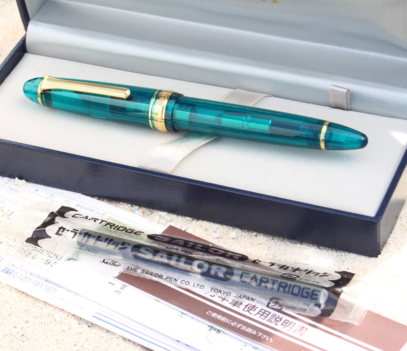 "Wancher 原绿松石奇迹神秘透明轴 21 金钢笔""人类的最后的天堂""马尔代夫性质,永远 ! 11 8227 * 每人只有一个 !"