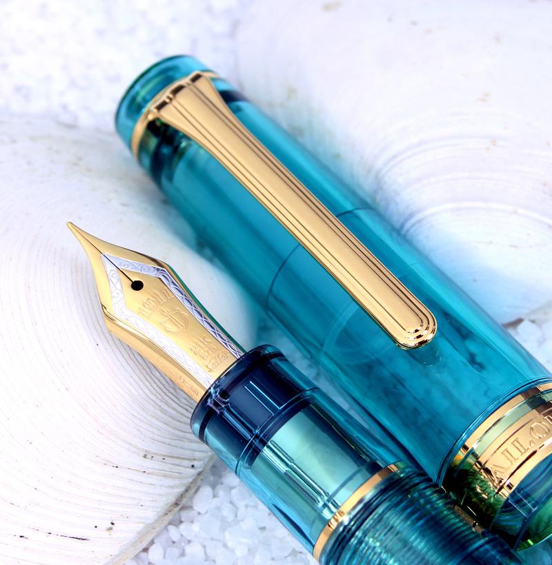 每个引起wancha限定21钱钢笔透明车轴系列专业人员齿轮Aqua蓝色幸运的钢笔有魅力的色彩明镜子静水的东西(meikyushisui)做,把*一个人1条限制为!