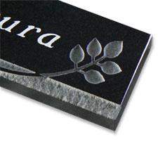 天然石の表札  デザイン御影 300×60×20mm【送料無料】