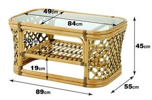 【送料無料】クロス張りのラタンテーブル センターテーブル