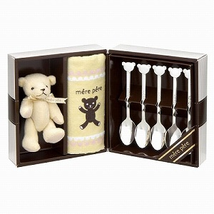 mere pere spoon 5 PC & hand towel and mascot 7-piece set 770-205 [fs01gm]