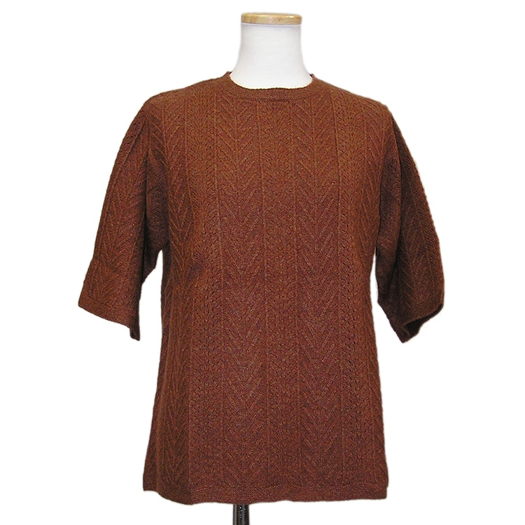 【OUTLET】 100D050 カシミヤ100%ネックウォーマ付半袖セーター カシミヤ