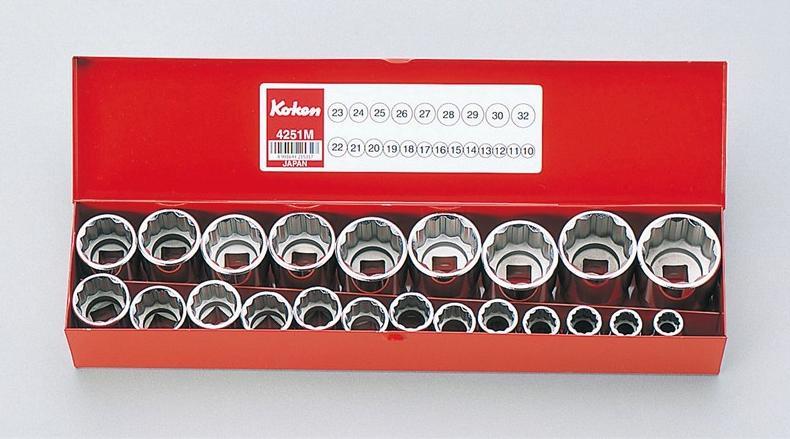 """柯肯 4251 M 10 1 / 2""""平方表面套筒组 22 个月双 Koken (Koken / 山下大学)"""