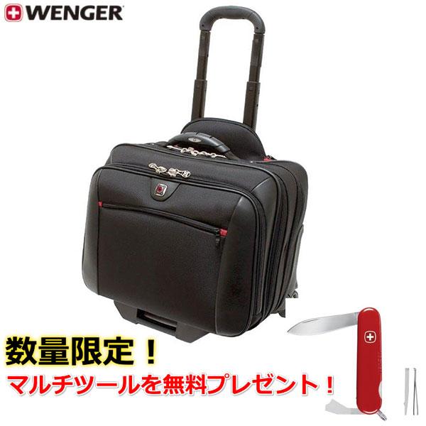 WENGER パイロットケース POTOMAC 600661 ブラック 【プレゼント】スイスアーミーナイフ Classic62
