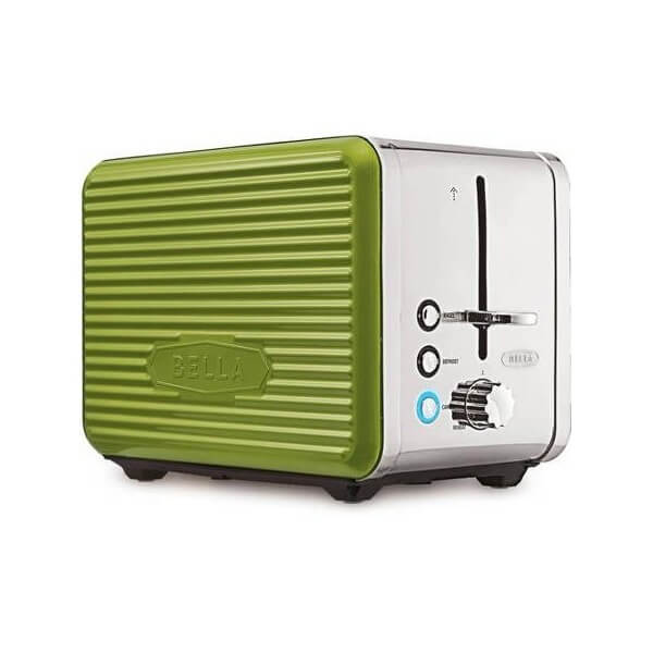 ポップアップ トースター 輸入トースター ベラ Bella リネアコレクション 2スライス グリーン 900W