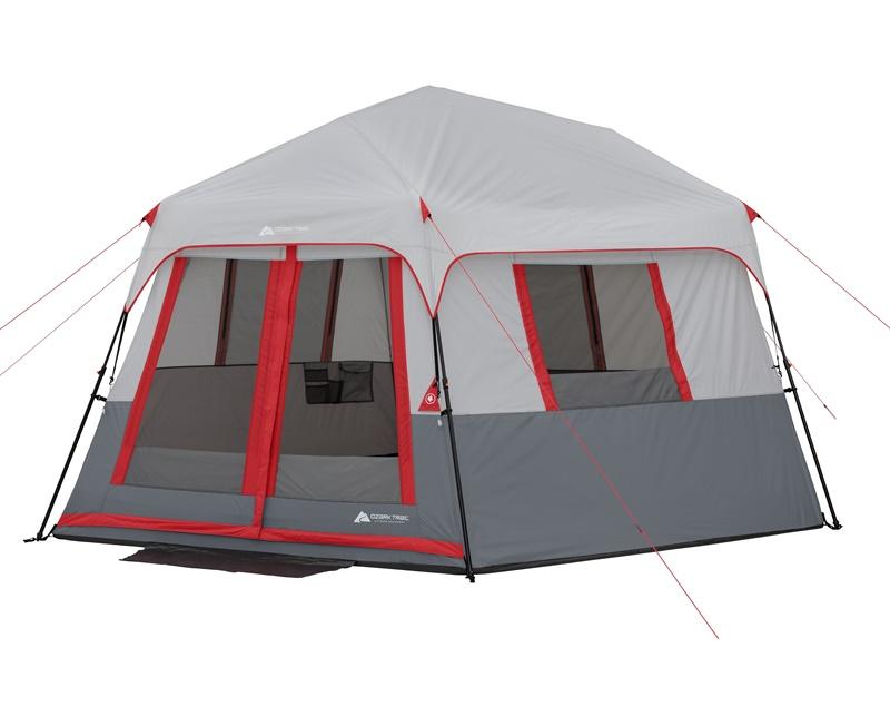 輸入テント 2018 オザクトレイル テント 8人用 インスタント テント 大型テント LED照明 Ozark Trail 8-Person Instant Hexagon Tent with LED Lights