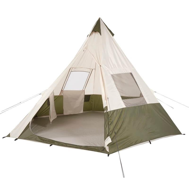輸入テント 2018 オザークトレイル テント ティーピーテント 7人用 円錐形テント Ozark Trail 3.6m x 3.6m Teepee Tent