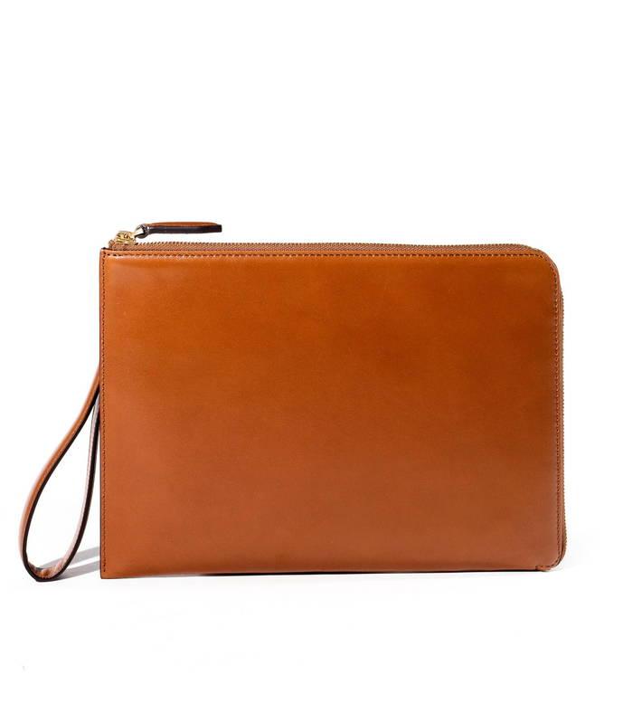 FUJITAKA GALLERY/フジタカ ギャラリー デュプイ社ボックスカーフ シャトーブリアン 名巧レザークラッチバッグ